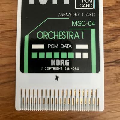 Korg MSC-04 Orchestra PCM card (for Korg M1)