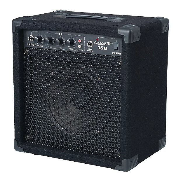 fender starcaster 15b bass guitar amplifier black reverb. Black Bedroom Furniture Sets. Home Design Ideas