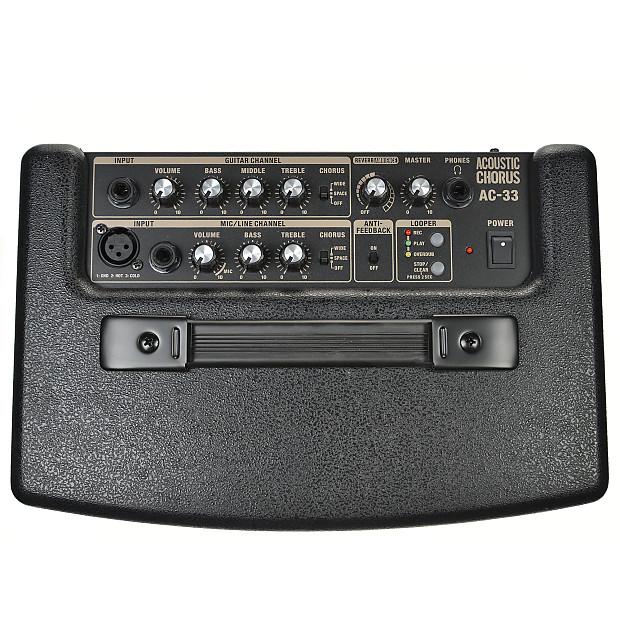 roland ac 33 battery powered acoustic chorus amp reverb. Black Bedroom Furniture Sets. Home Design Ideas