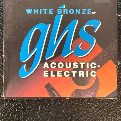 GHS XL 11-48 WB-XL White Bronze Acoustic Strings  bronze