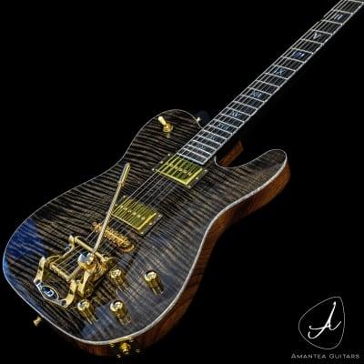 Amantea Guitars Telecaster p90 mahogany  2021 Poliacrylic 90 gloss flamed top/neck