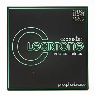 Cleartone 011-.052 CUSTOM LIGHT 7411 Phosphor Bronze Acoustic Guitar Strings 6 PACKS