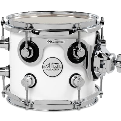 DW Design Series 7X8 Mounted Tom Gloss White