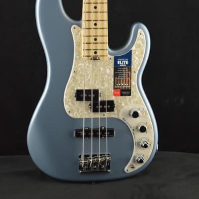 Fender American Elite Precision Bass Satin Ice Blue Metallic for sale