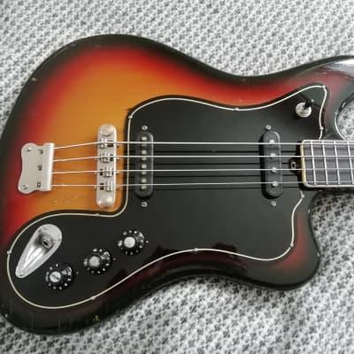 Musima de Luxe 25b 1970s 3 Tone Sunburst  Jaguar bass variation for sale