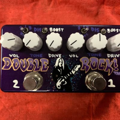 ZVEX Double Rock Distortion Guitar Effects Pedal Stompbox Hand Painted Edition