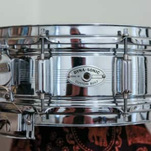 """Rogers """"7-Line"""" Dyna-Sonic 5x14"""" Chrome Over Brass Snare Drum with Beavertail Lugs 1963-1967"""