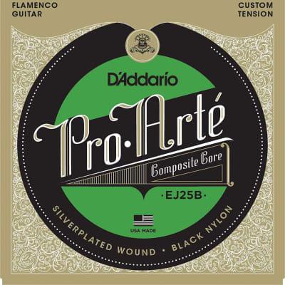 D'Addario EJ25B Pro-Arté Black Nylon Composite, Flamenco