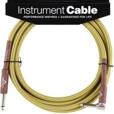 Fender Custom Shop Cable, 10', Tweed, Angled