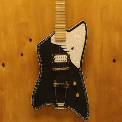 USA Margasa / Roman Sixx Swan Custom Electric Guitar, single piece body/neck for sale