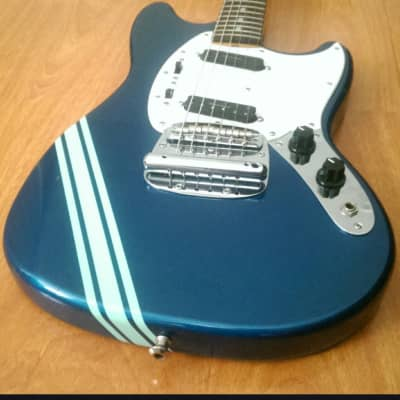 Fender MG-69 Mustang '69 Re-issue / Competition Blue / Seymour Duncan Pick Ups / Case for sale