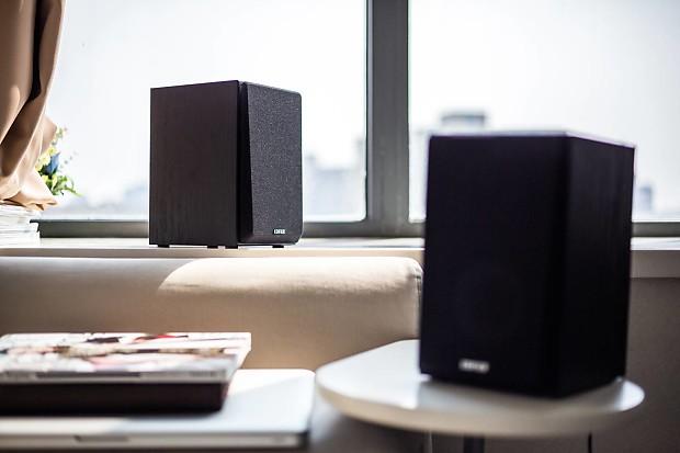 edifier r980t 4 active bookshelf speakers 2 0 reverb. Black Bedroom Furniture Sets. Home Design Ideas
