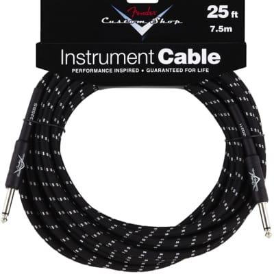 Fender Fender Custom Shop Cable, 25', Black for sale