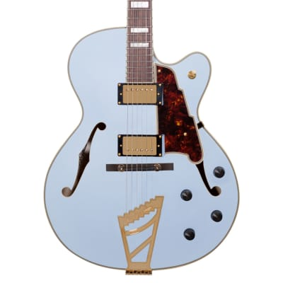 D'Angelico Deluxe DH Matte Powder Blue for sale