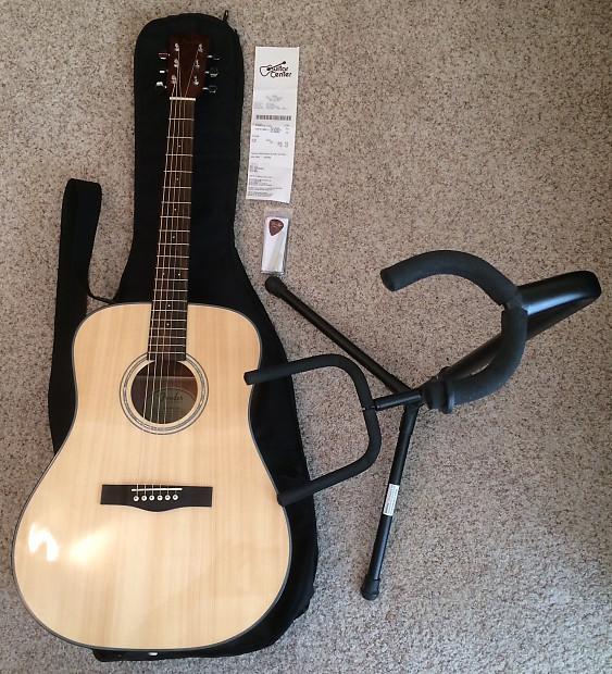Fender Solid-Top Acoustic Guitar  Elixir Strings, Professional Setup,  Stand, Strap, and Gig Bag