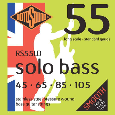 Rotosound RS55LD Linea Pressure Wound Electric Bass Strings (45-105)