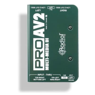 Radial Engineering ProAV2 Stereo Pro Audio DI Direct Box