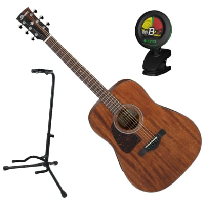Ibanez AW54LOPN Artwood Left Handed Acoustic Guitar Bundle