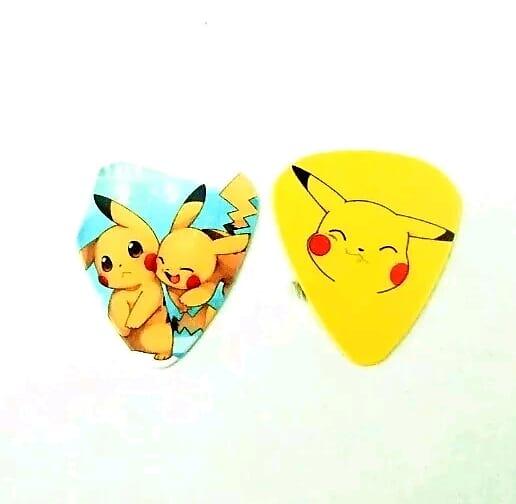 Pokemon Pikachu Guitar Picks Set Video Game Cartoon Anime Collectible Gift