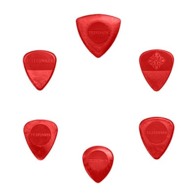 New Telefunken Elektroakustik Variety Mix Pack Guitar Picks (6-pack) - Red