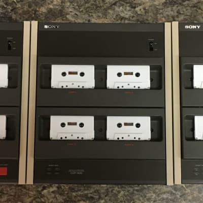SONY CCP-1300 Master 16x High Speed Cassette Duplicator with 2 CCP-1400 Expansion Units.