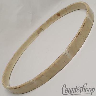 """*Leedy 14""""1-Ply Solid Maple Wood Drum Hoop/Rim Snare Resonant Vintage 20s White*"""