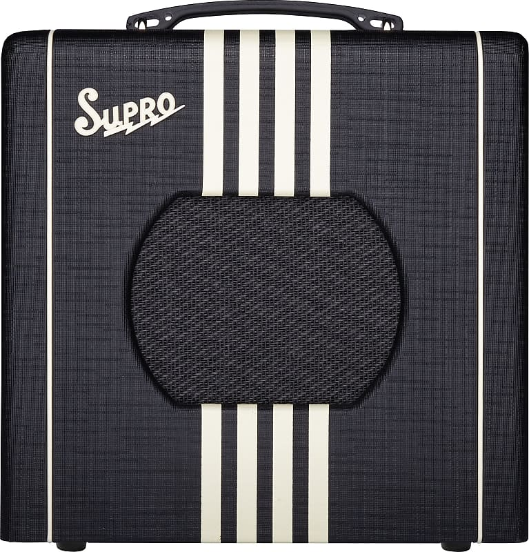 Supro 1818BC Delta King 8 1W 1x8'' Guitar Tube Combo Amplifier Black & Cream