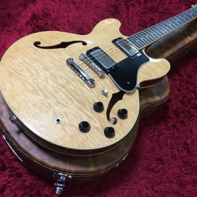 Beautiful goods FUJIGEN semi-acoustic MSA-HP NAT natural w/HC Used in Japan Discount for sale
