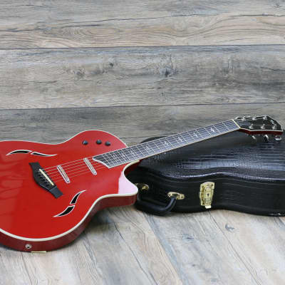 CLEAN! Taylor Custom T5C 2006 Borrego Red + OHSC! Limited and Rare 2 Pickups! for sale