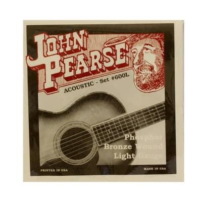 John Pearse 600L Phosphor Bronze Light 12-53 Acoustic Strings