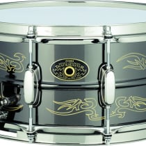 "Tama Kenny Aronoff 6.5x14"" Trackmaster Engraved Brass Snare image"