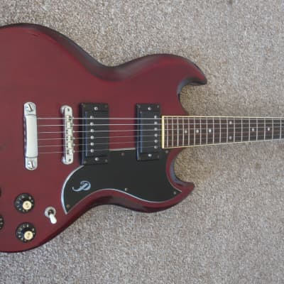 Pearl SG style guitar 1970's Cherry Red Made in Japan for sale