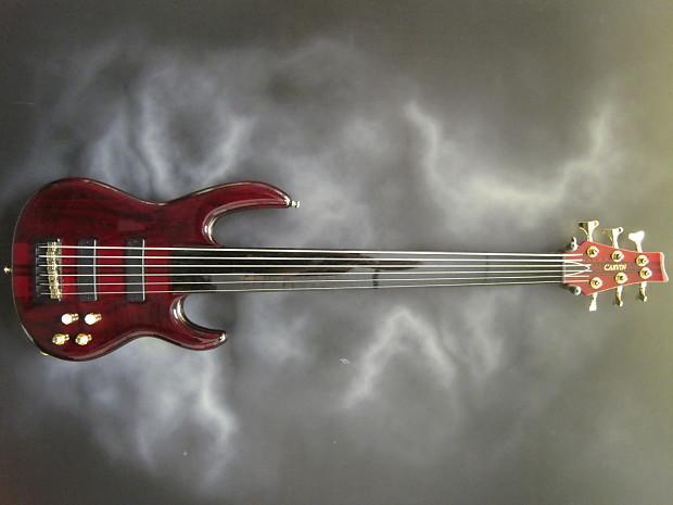 Carvin Custom 6 String Fretless Bass Wine Red