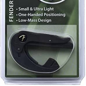 Genuine Fender FSCFS Smart Capo Guitar Capo - Flat Neck Fingerstyle for sale