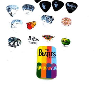 Beatles Guitar Picks Signature Series Stripes Planet Waves Pick Tin 15 Picks