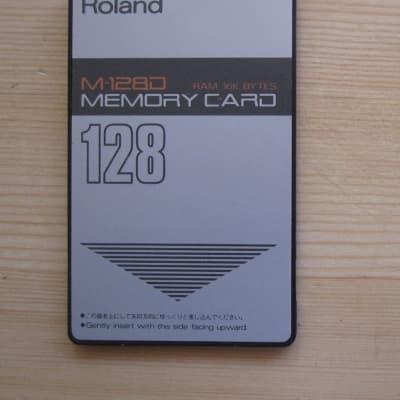 ONE vintage Roland M-128D card RAM D-50 D-10 D-110 GC-8 Pad 80 PM-16 R-880 TR-626 memory patch data