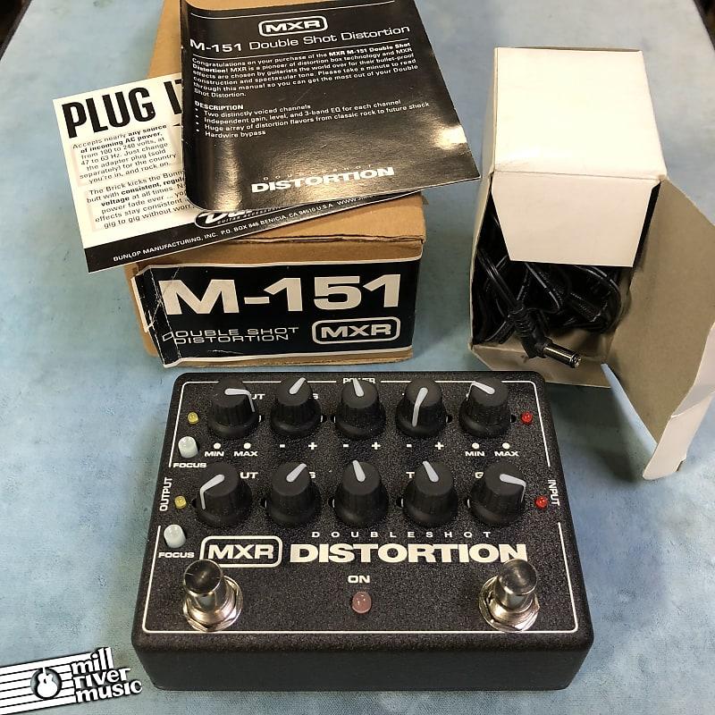 MXR M-151 Doubleshot Distortion Effects Pedal w/ Box & Power Supply