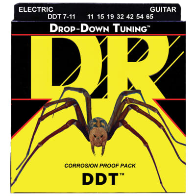 DR Strings DDT7-11 Drop-Down Tuning Electric 7-String Heavy 11-65
