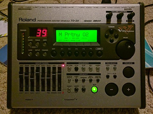 Roland TD20 Module With VEX Masters 2 Vdrums brain