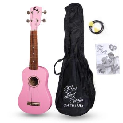 Kay U12PP Pink Soprano Ukulele Package (Free Shipping) for sale