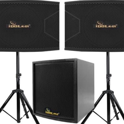 "Idolpro IPS-20 1500W Full Range 12"" 3 Way Professional Speaker & 12"" 1000W Subwoofer Karaoke Combo"