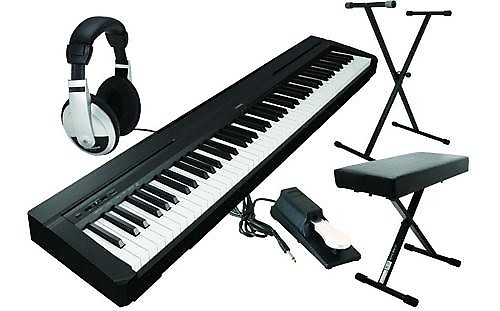 yamaha p35b 88 key digital keyboard value bundle reverb. Black Bedroom Furniture Sets. Home Design Ideas