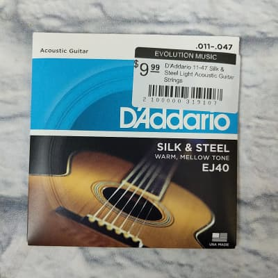 D'Addario 11-47 Silk & Steel Light Acoustic Guitar Strings