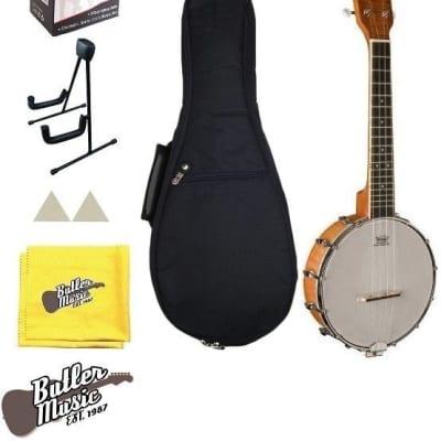 Oscar Schmidt Model OUB1 Concert Size Banjolele Banjo Uke w/Uke Stand + More