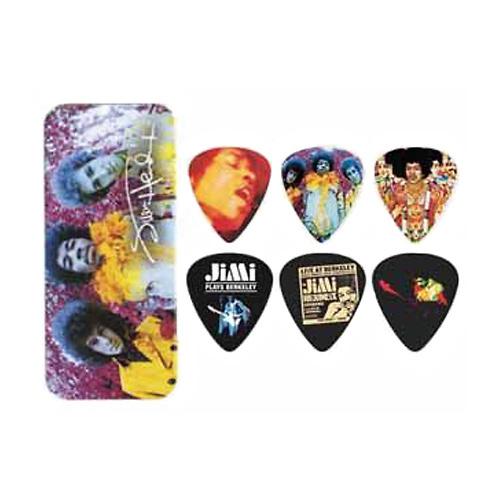 Jim Dunlop Guitar Picks x 12 JH-PT01M Jimi Hendrix Pick Tin