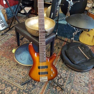 Austin 5 String Bass Guitar Sunburst for sale