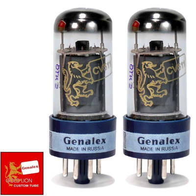 Brand New In Box Genalex Reissue 6V6GT 6V6 Current Matched Pair (2) Vacuum Tubes image