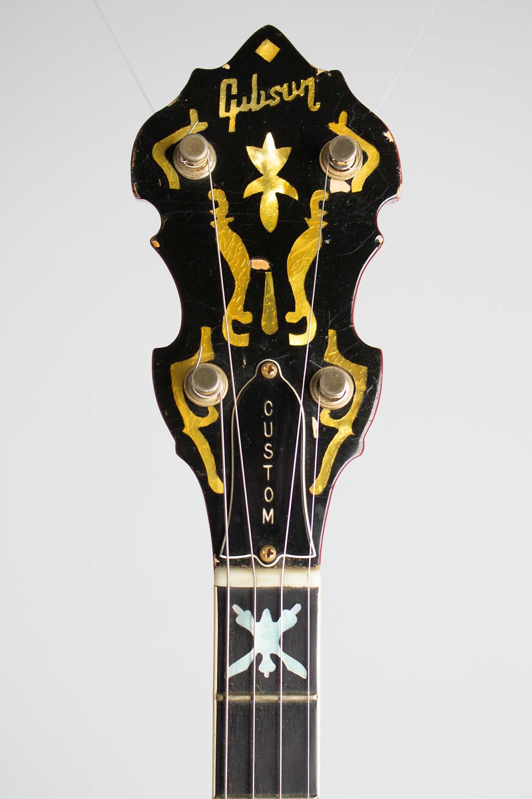 Gibson  TB-800 Mastertone Deluxe Tenor Banjo,  c. 1968, original black hard shell case.