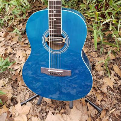 Corbin Trans Ocean Blue Acoustic Guitar Matches A 2006 Corvette, Ocean Blue!!!!!
