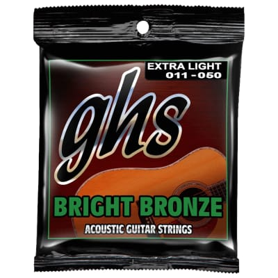 GHS Extra Light Bright Bronze Acoustic BB20X 11-50